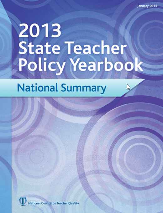 2013 State Teacher Policy Yearbook