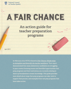 A Fair Chance: Program Action Guide