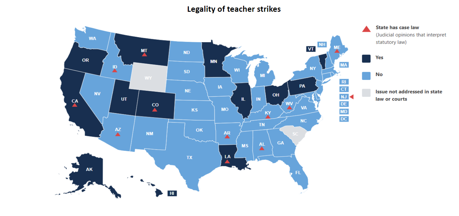 Collective bargaining and teacher strikes