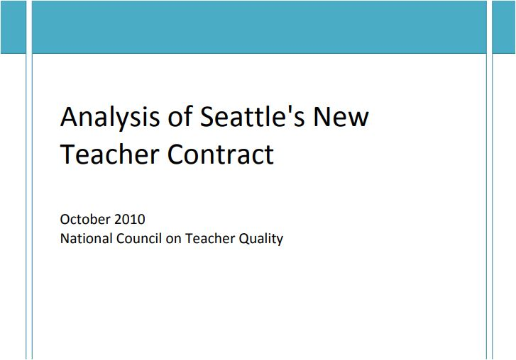 Analysis of Seattle's New Teacher Contract