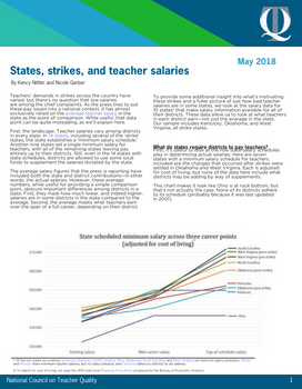 States, Strikes, and Teacher Salaries