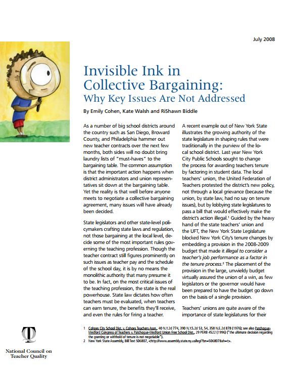 Invisible Ink in Collective Bargaining: Why Key Issues Are Not Addressed