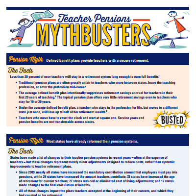 Teacher Pensions Mythbusters
