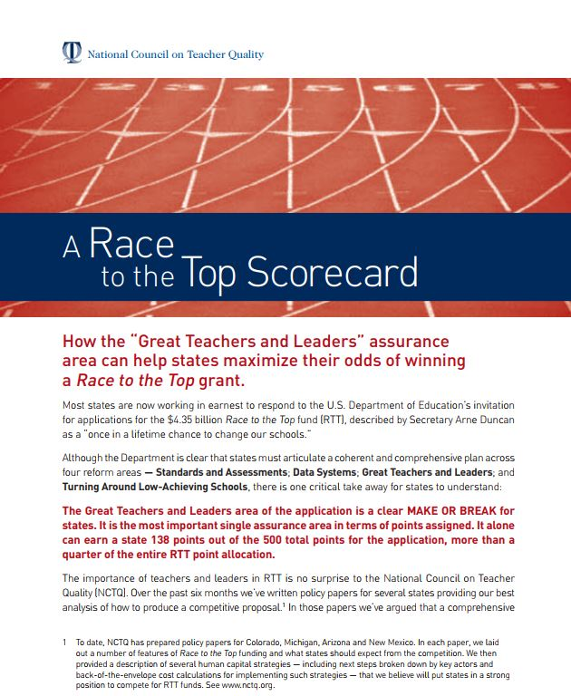 A Race to the Top Scorecard